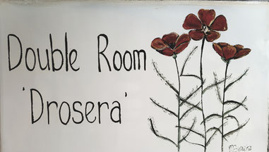 Double Room 'Drosera' - Door Plate