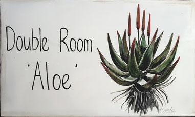 Dubbelkamer 'Aloe' - Deurplaat