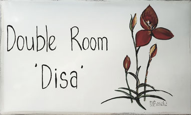 Doppelzimmer 'Disa' - Türschild
