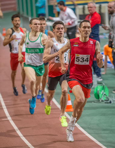Andreas Vojta heute beim 1500m-Rennen in Wien