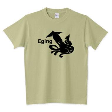 エギングのイラストTシャツ、イカ、いか、烏賊デザイン通販販売注文釣りルアーフィッシング