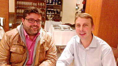 Guillaume Glories (mejor sumiller de 2010. Madrid Fusión) y Bati Bordes en el Restaurante Entrevins (Russafa-Valencia)
