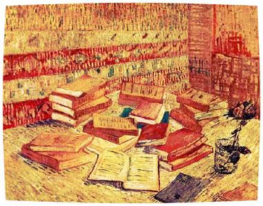 """Van Gogh, """"Natura morta con libri e una rosa"""""""