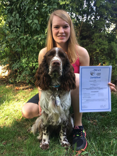 Theresa Nothaas and Kuno are now certified Therapy Dog Team, Photo: T. Nothaas