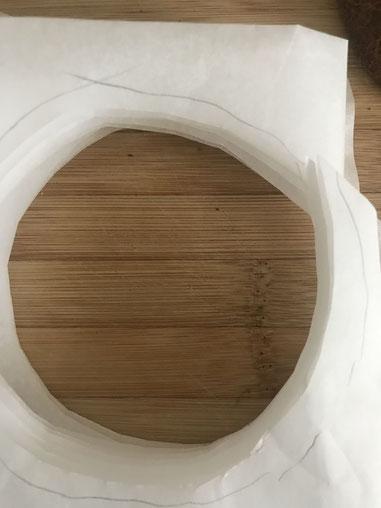 Bao : faire des ronds en papier sulfurisé