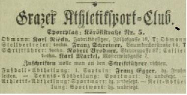 Verlautbarung aus dem August 1902
