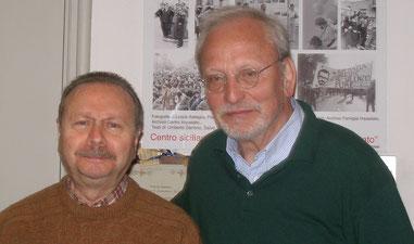 Umberto Santino (li.) und Winfried Küper, Palermo 2015