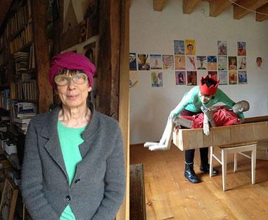 Irmel Droese in ihrem Atelier