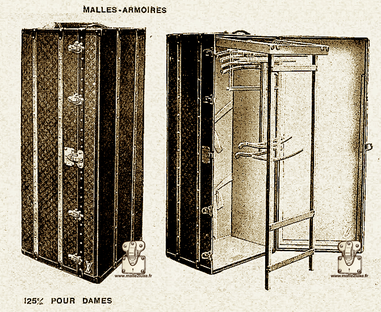 Malle courrier Louis Vuitton 1913 Page 32 - Catalogue Louis Vuitton 1914 - malle armoire