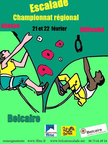 Championnat Régional d'Escalade 2015 - Belcaire