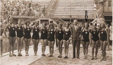 Sölkner mit dem Österreichischen Nationalteam der Damen um 1930