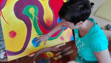 Seminar Intuitives Malen/ Kunsttherapie auf Teneriffa
