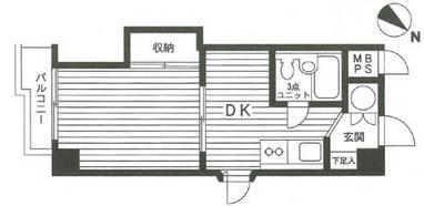 横浜 賃貸マンション 1DK
