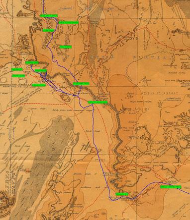 La nostra traccia nella zona sud del Gilf Kebir