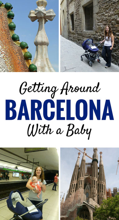 Getting around Barcelona with a baby. Click to for more on getting around by walking, public transit, taxis & hop on hop off!  | Family Travel  | Travel with baby, infant, toddler | Traveling to Barcelona | Barcelona with baby | Barcelona with children