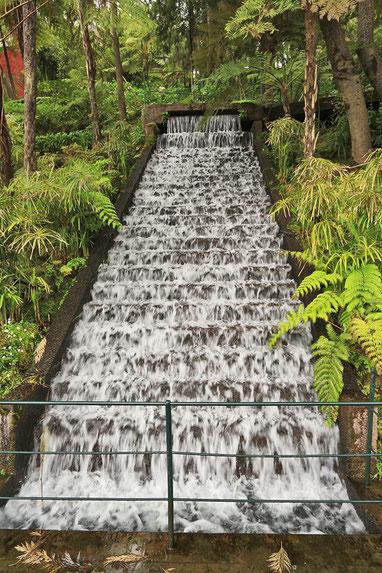 Wasserspiele im Jardim Tropical Monte Palace.