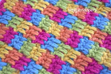 Punto LEGO tejido a crochet