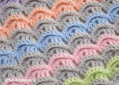 Punto Cucú tejido a crochet