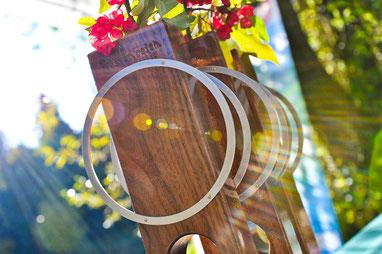 Pokal gefertigt aus Holz. Mit Gravur und Laserbeschriftung.
