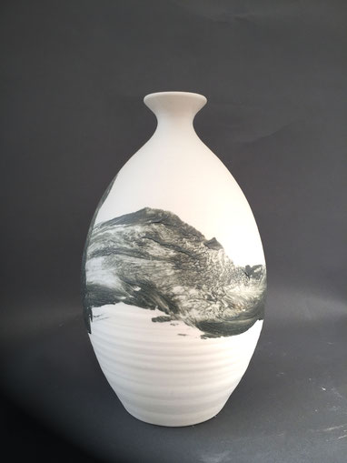 Vase Porcelaine  H23 cm