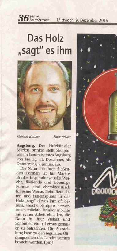 Foto Pressebericht Ausstellung Landratsamt Augsburg 2015/2016
