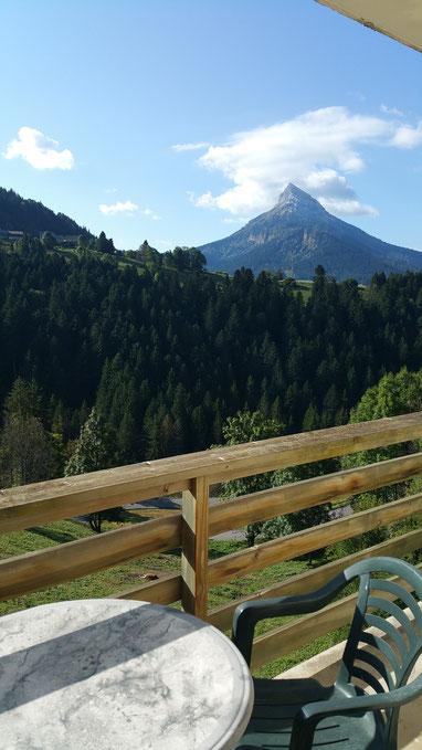 Belle vue sur Chamechaude depuis les balcons