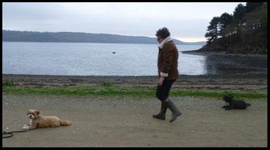 Sylvie et sa chienne Judy (Shih Tzu)