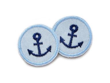 Jeans patch anker mini Bügelflicken accessoire Kinder Erwachsene