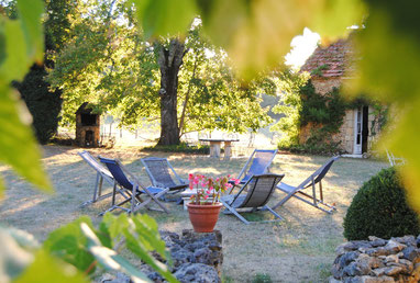 The garden seen from the pergola