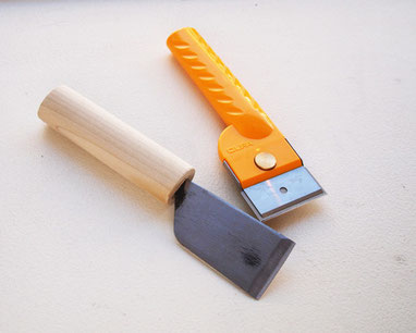 レザークラフトで使う革裁ち包丁と別裁ち