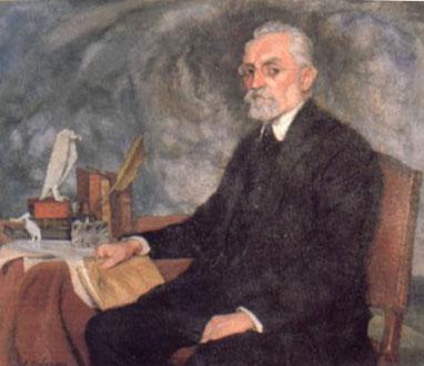 Zuloaga. Miguel de Unamuno 1925. Uno de los más extraordinarios escritores y filósofos de la época, hizo de su combate personal de la fe un tema de producción literaria y ensayista insobornable.