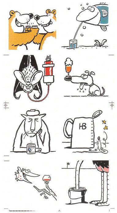 Cartoons von Mock zum Thema Bier