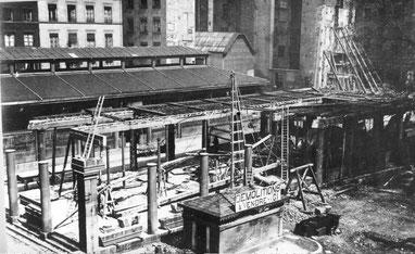 Démolition de la halle sud (1902-1903)