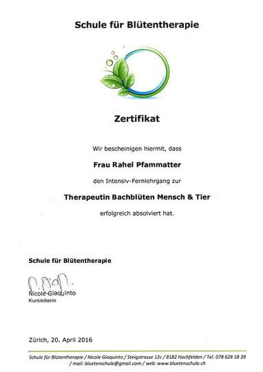 Therapeutin Bachblüten Mensch & Tier