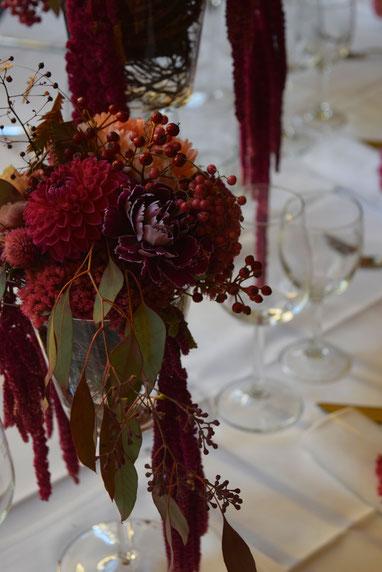 Tischdekoration für die Hochzeit - Hochzeitsmesse in der Hochzeitslocation philipp eins in Speyer.