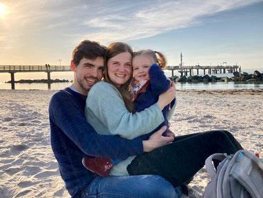 Christopher, Tina und Anna im Februar 2021
