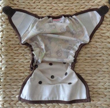 culotte de protection pour couches lavables en PUL imperméable Blueberry