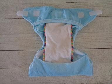 couche lavable newborn nouveau né mopetitou te2 ecomome : insert bambou et microfibre