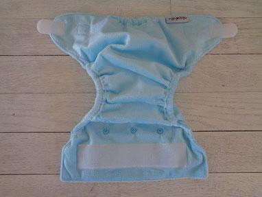 couche lavable newborn nouveau né mopetitou te2 ecomome : face extérieure