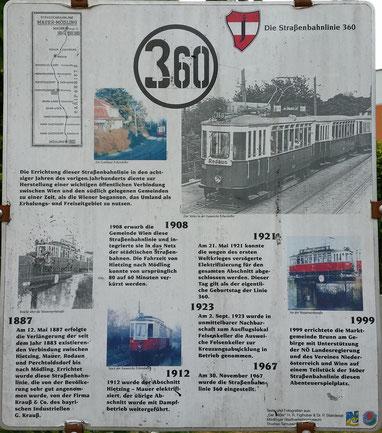 Straßenbahnlinie 360: Infotafel in der Hst. Felsenkeller
