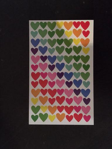 Regenbogen Herzsticker