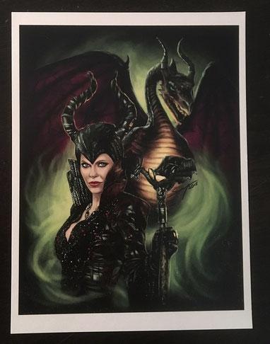 """Maleficent"" Print von ArtBySvenja"