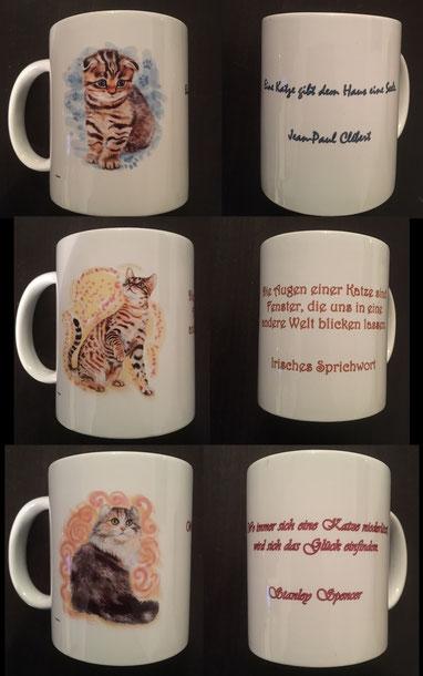 1 von 3 verschiedenen Tassen mit Motiven von Ariydesign
