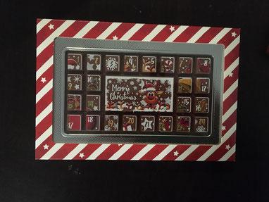 Adventskalender aus Schokolade