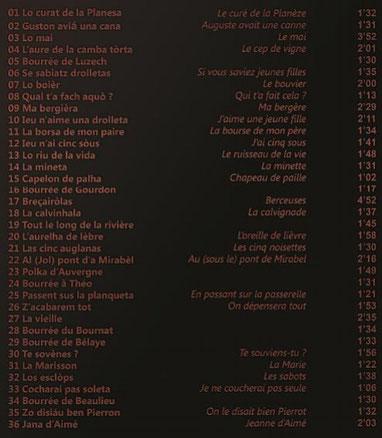 José Roux : Mescladis CD Auvergne Quercy Rouergue