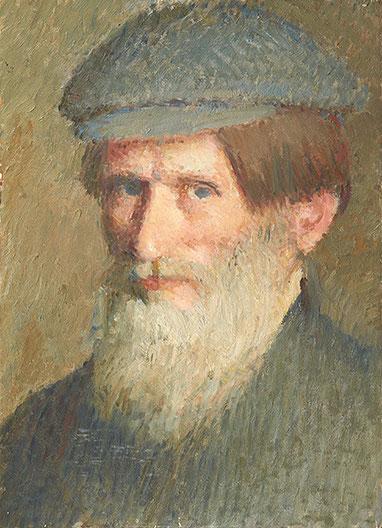 Léon Delachaux, Autoportrait, peinture à l'huile