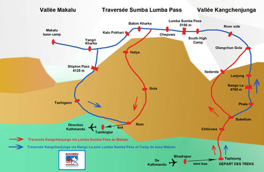 Traversée Lumba Sumba Pass du Kangchenjunga au Makalu