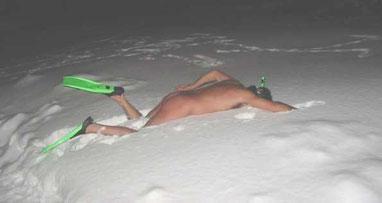 Trockentauchen im Winter !!
