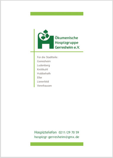 Flyer Hospizgruppe mit Mitgliedsantrag