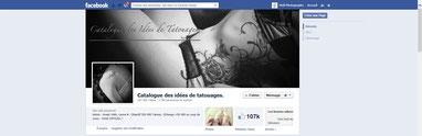 """page facebook du """" catalogue des idées de tatouages """""""